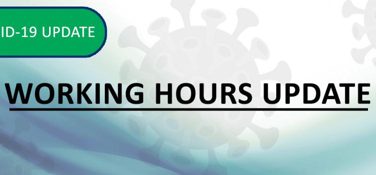 Working Hours Update