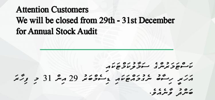 Annual Stock Audit Notice